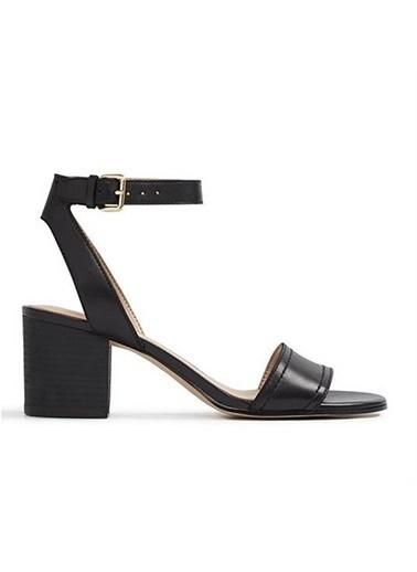 Aldo Kalın Topuklu Çiçekli Ayakkabı Siyah